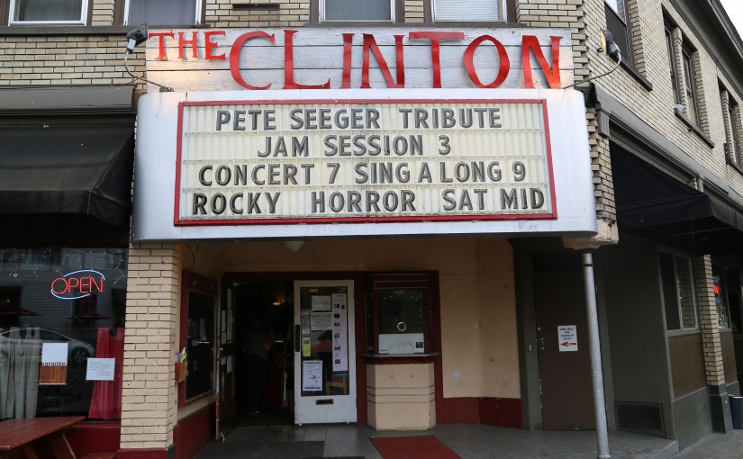 Lani Jo Leigh - pete seeger on marquee