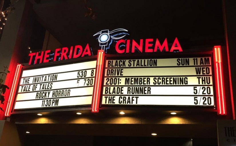 Logan Crow - the frida cinema - frontage marquee
