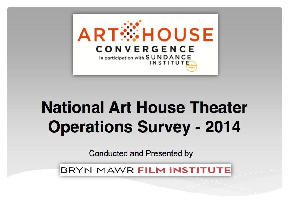 National Theater Operations Survey 2014