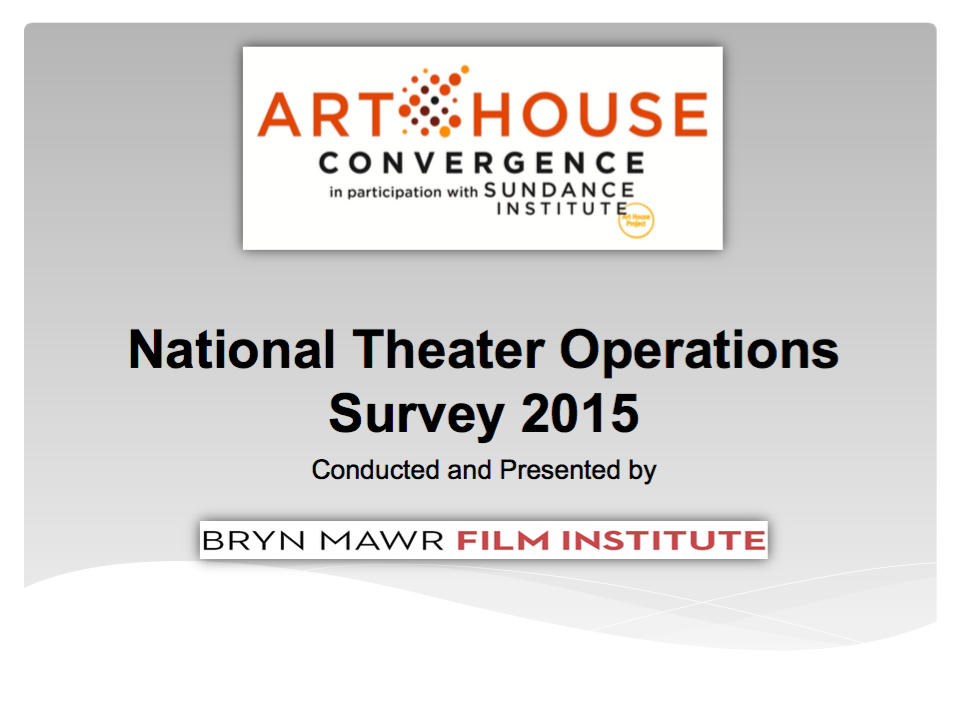 National Theater Operations Survey 2015