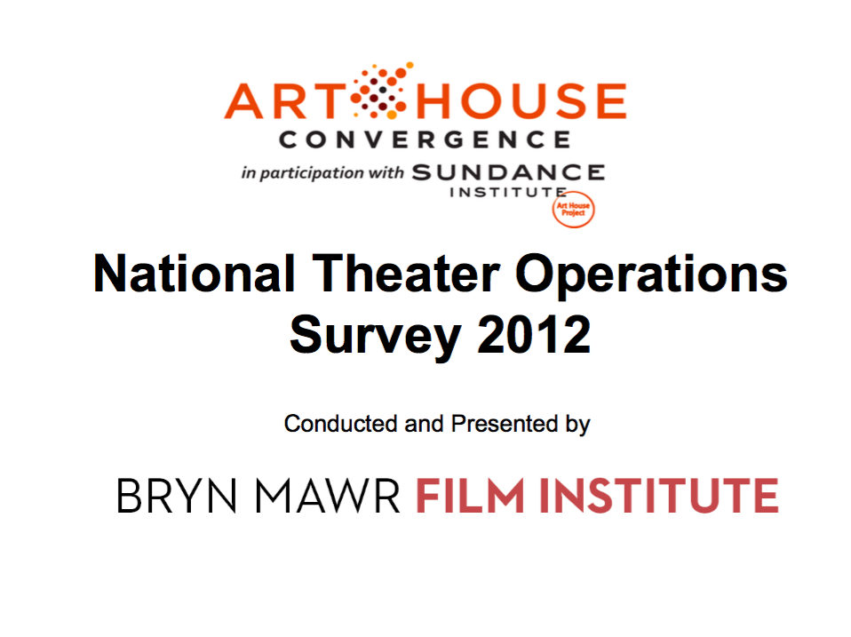 National Theater Operations Survey 2012