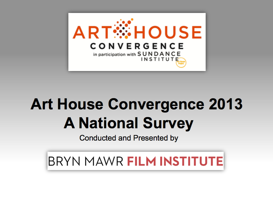 National Theater Operations Survey 2013